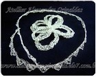 Tiara de rendinha de metal - fio para dar voltas no cabelo e flor com 8 petalas- borboleta - com cristal swarovski , folheadas em prata.