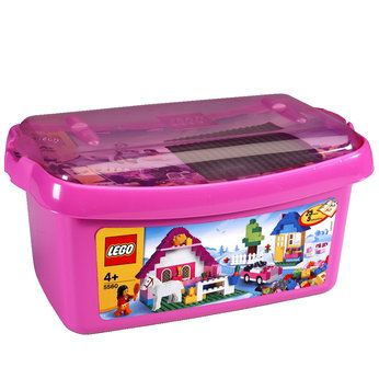 Lego Large Pink Brick Box (5560)/wrapped