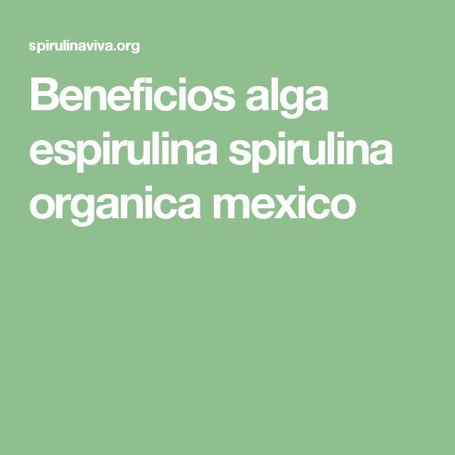 Beneficios alga espirulina spirulina organica mexico