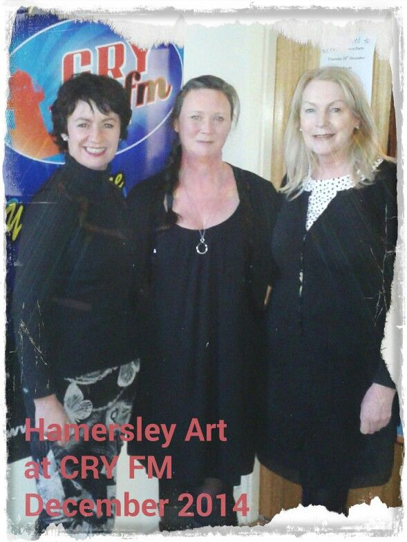 Lovely to catch up with Linda and Colette this afternoon on CRY 104 fm Youghal