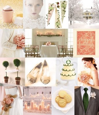 blush winter wedding (is blush really just light orange?) paired still with blue?