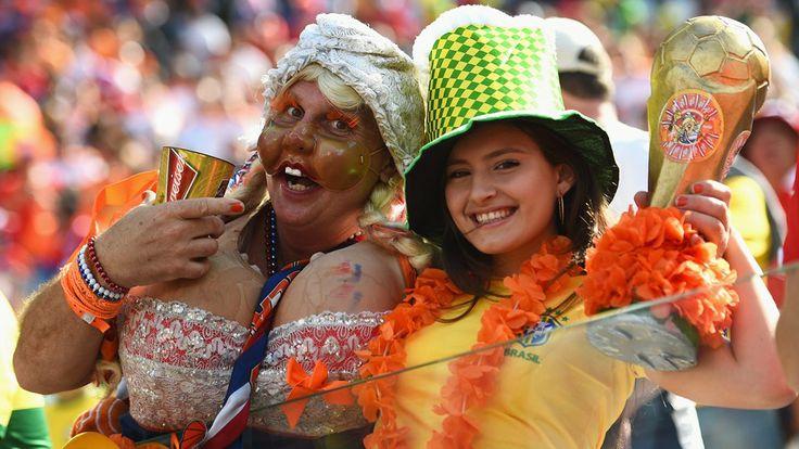 Netherlands fans enjoy the atmosphere