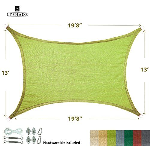 Cheap LyShade 198 x 13 Rectangle Sun Shade Sail Canopy with Stainless Steel Hardware Kit (Lime Green)  UV Block for Patio and Outdoor https://patioumbrellasusa.info/cheap-lyshade-198-x-13-rectangle-sun-shade-sail-canopy-with-stainless-steel-hardware-kit-lime-green-uv-block-for-patio-and-outdoor/