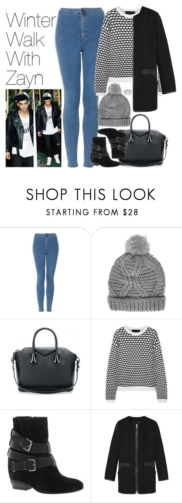 """Winter Walk with Zayn"" by onedirectionimagineoutfits99 ❤ liked on Polyvore featuring Topshop, Givenchy, Jay Ahr, Dune and Jon Richard"