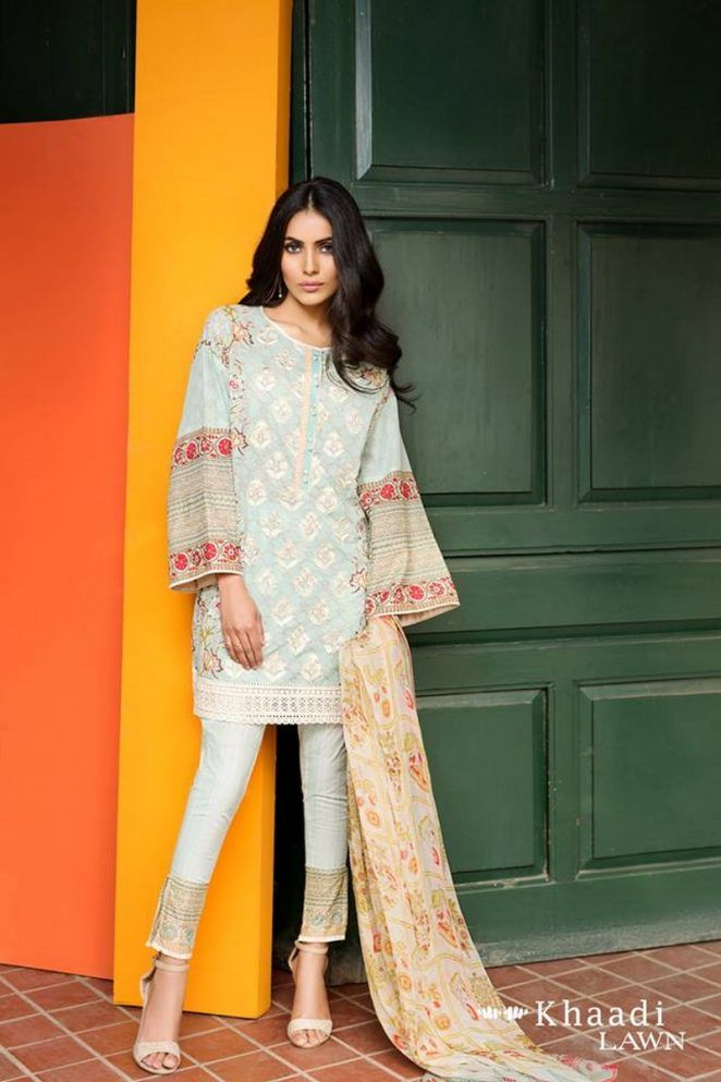 Khaadi Embroidered Lawn Vol 1 Collection 2017 With Price