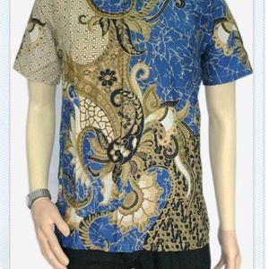 Batik, Baju Batik Saloka, Kemeja Batik Modern, Pakaian Batik Pekalongan