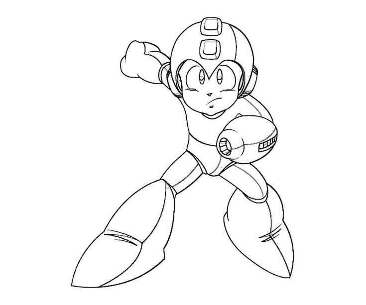 mega man coloring pages free - photo#27