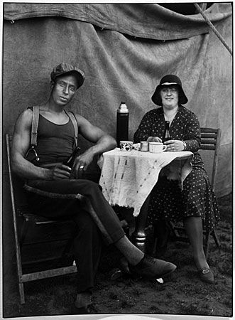 "August Sander  Circus Workers, 1926-1932  8 x 10"" Silver Print  Posthumous Print  Printed 1990"