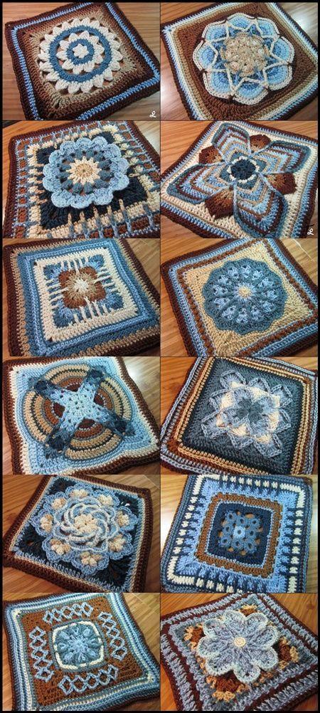 Nuts About 35 Squares Cal Grannysquares Crochet Häkeln Yarn