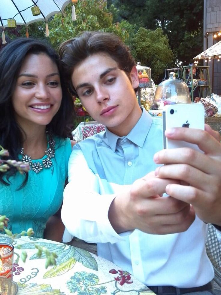 Bianca Santos and Jake T. Austin.