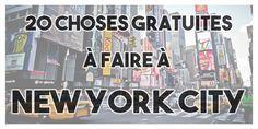 New York City est une des villes les plus chères du monde, mais il existe quand même des choses gratuites à faire absolument lors de votre voyage à New York. Je vous donne tous les bons plans dans cet article !