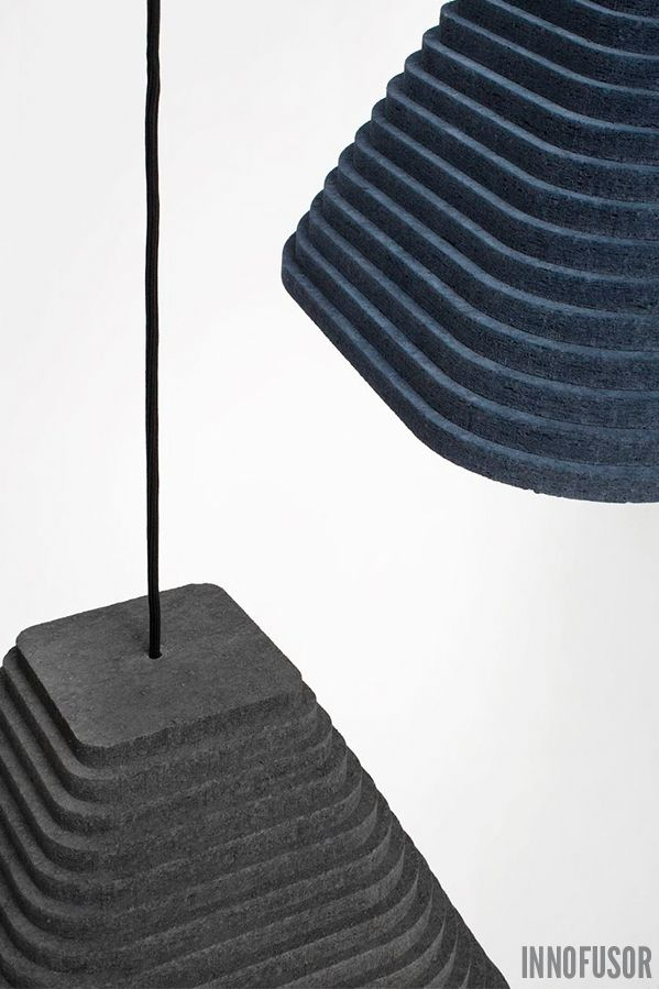 Rimpi Acoustic Lighting, colors blueberry and dark dust. See more at www.innofusor.com #Lighting #Design #acoustics #Innofusor