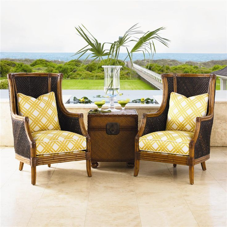 The Essence Of Casual Island Lifestyle With The Exotic Rum Beach Chair From  @Lexington Home