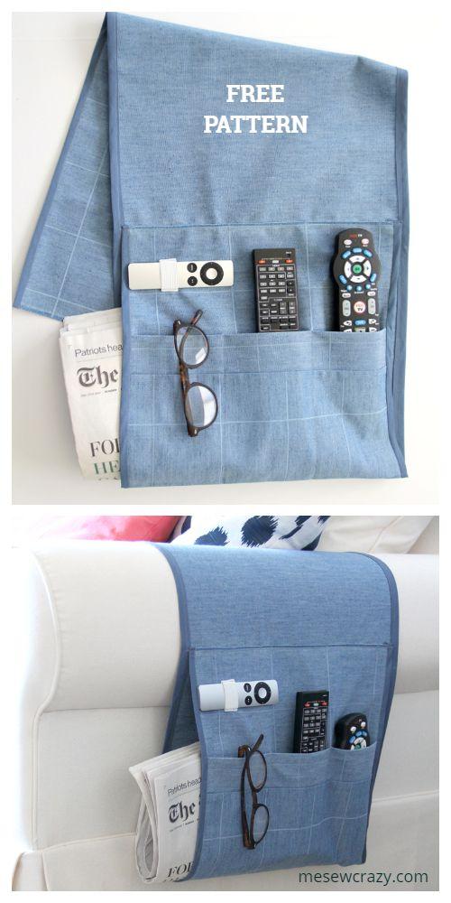 DIY Sofa Armchair Caddy/Organizer Free Sewing Patterns ...