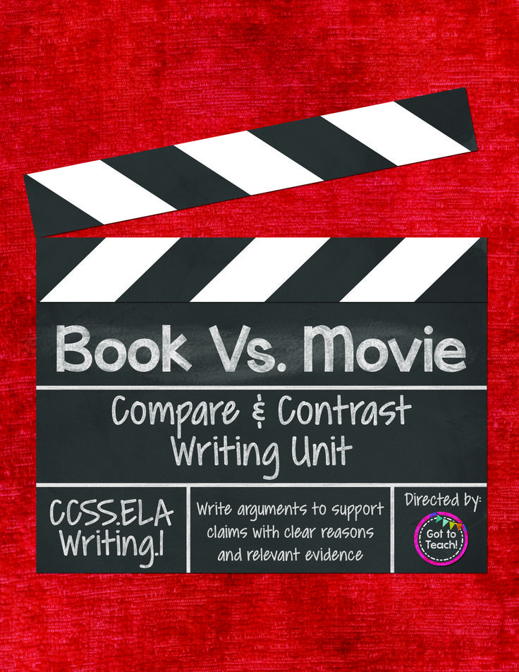essays comparing books movies Writing a comparison- contrast essay p if you are a fan of the star wars movies, you might compare and contrast the latest library for books or articles.