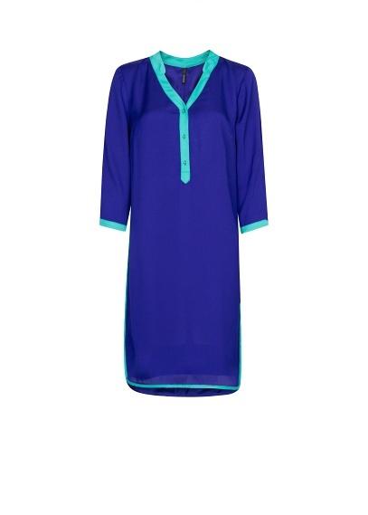 MANGO - Two-tone tunic dress