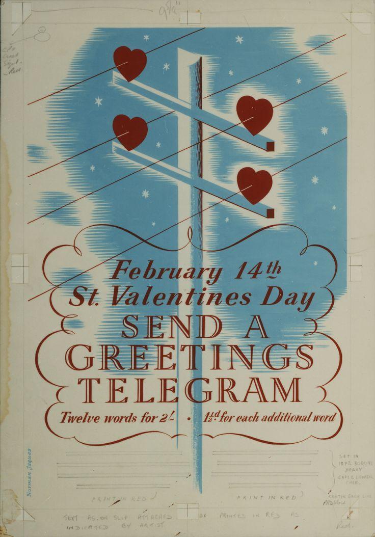 14 February 14.  Telegram poster.