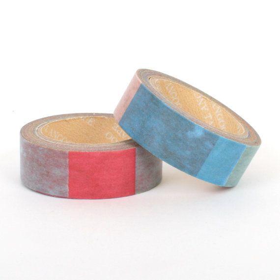 Washi tape / masking tape 10m  Multicolor bands / by Vespapel, $2.30