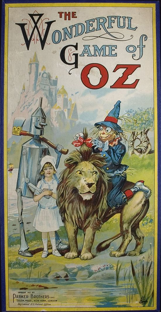 Box cover for The Wonderful Game of Oz. Salem: Parker Brothers, 1921.
