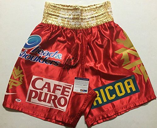 AutographedSigned Manny Pacquiao Red Boxing TrunksShorts PSADNA COA Auto *** You can find out more details at the link of the image.