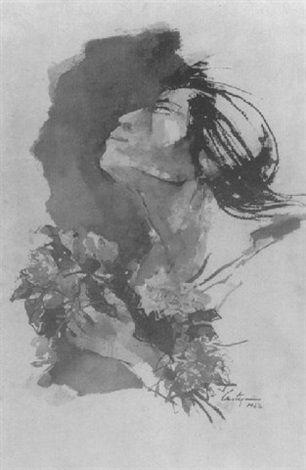 Perfil de indígena (1967) Juan Carlos Castagnino