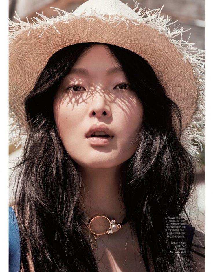 Magazine: Vogue China July 2016 Beauty Editorial: Beach Babe Photographer: Kenneth Willardt @kennethwillardt Model: Sunghee Kim Stylist: Ida Wang Hair: Kevin Ryan Makeup: Justine Purdue @justinepurdue
