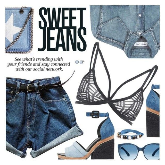 """""""Sweet Jeans"""" by black-fashion83 ❤ liked on Polyvore featuring Yves Saint Laurent, Pierre Hardy, STELLA McCARTNEY, Erdem, Cara, Skagen, polyvoreeditorial, polyvoreset and stylemoi"""