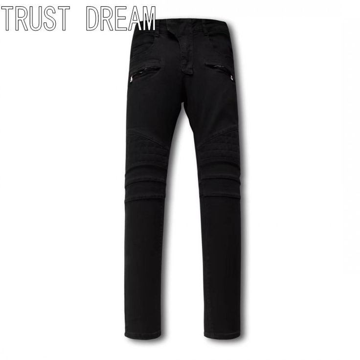 >> Click to Buy << TRUST DREAM European Style Men Slim Washed Black Jeans Sewing Square Personal Stretch Man Moto Biker Fashion Street Club Jeans #Affiliate