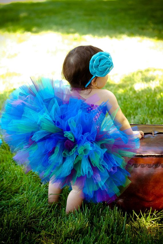 Vintage Peacock Tutu Set Great for Birthdays, Photography Prop, and Dance photo 2/5