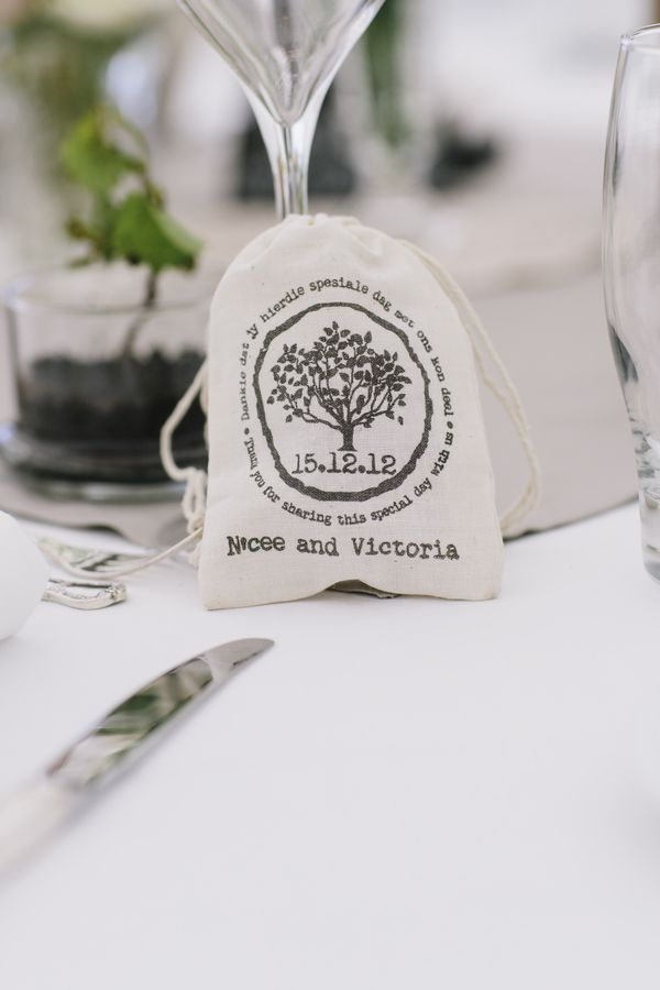 wedding favors ideas do it yourself%0A Cool custom stamp for a wedding favor bag  Photo by Mary Sylvia Photography