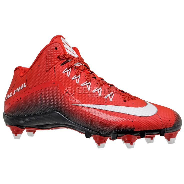 New Nike Alpha Pro 2 II Mid 3/4 D Mens Football Cleats Detachable Studs