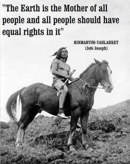 Chief Joseph. Equal rights.