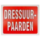 Trailerbord dressuurpaarden Paardensport-shop.nl  http://www.paardensport-shop.nl/store/category/stal-trailerborden/