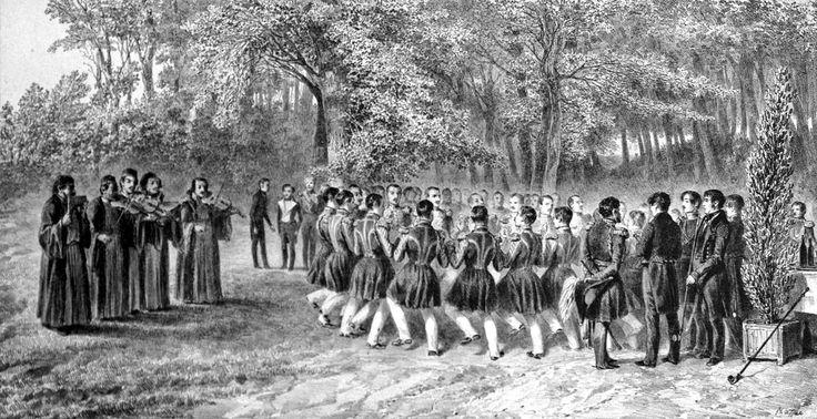 Musicians of the 2nd regiment, Bucharest (1837)