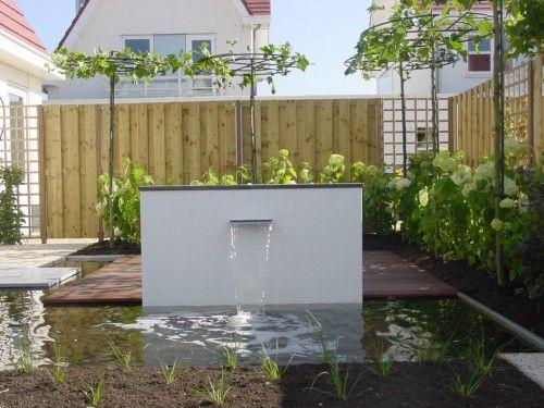 Moderne waterpartij water in de tuin pinterest photos and design - Bassin tuin ontwerp ...