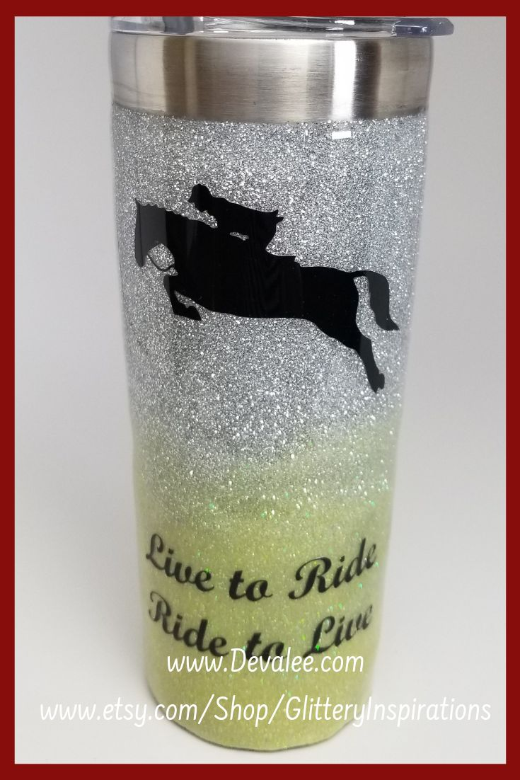 Customize your Horse Glitter Tumbler! Great gift idea too