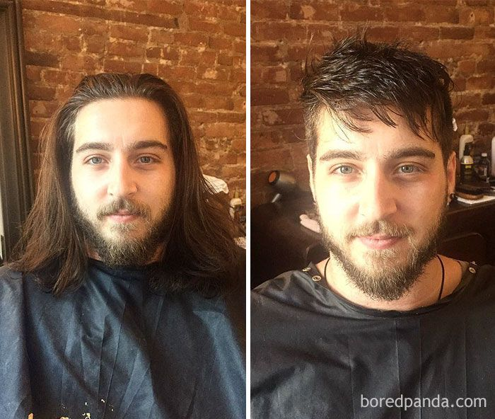 134 Incredible Photos Before And After A Haircut Prove A Good Barber Is Like A Plastic Surgeon Long Hair Styles Men Mens Hairstyles Mens Hairstyles Medium
