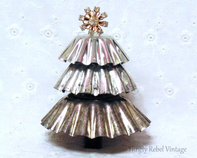 It's easy to make a repurposed tart tin tree with just a few simple supplies.