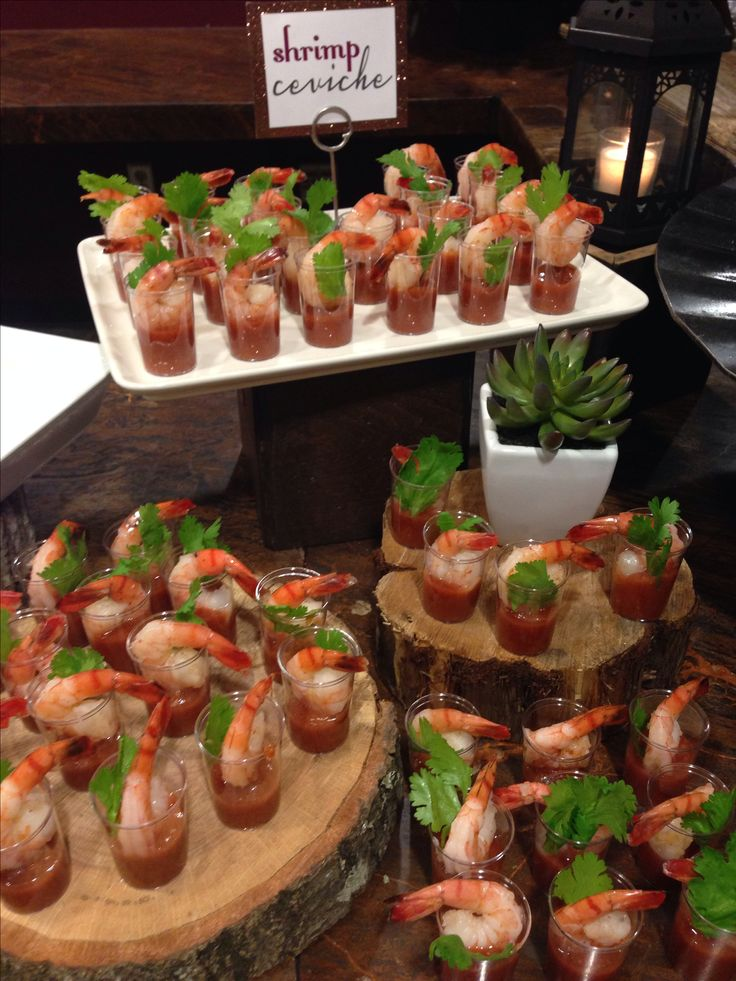 Shrimp cocktail display #catering #globaleventgroup