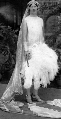 A bride of the British Raj: Iris Butler on her wedding day in 1927, one of the girls of the 'Fishing Fleet'.