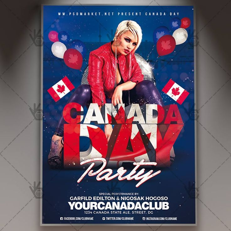 Canada Day Celebration - Premium Flyer PSD Template.  #canada #canadadayflyer #canadadayparty #canadadayposter #canadaflyer #canadaindependence #canadianflag #canadianflyer #canadianparty #festival #feteducanada #independenceday #redleaves #Toronto #3Dtext  DOWNLOAD PSD TEMPLATE HERE: https://www.psdmarket.net/shop/canada-day-celebration-premium-flyer-psd-template/  MORE FREE AND PREMIUM PSD TEMPLATES: https://www.psdmarket.net/shop/