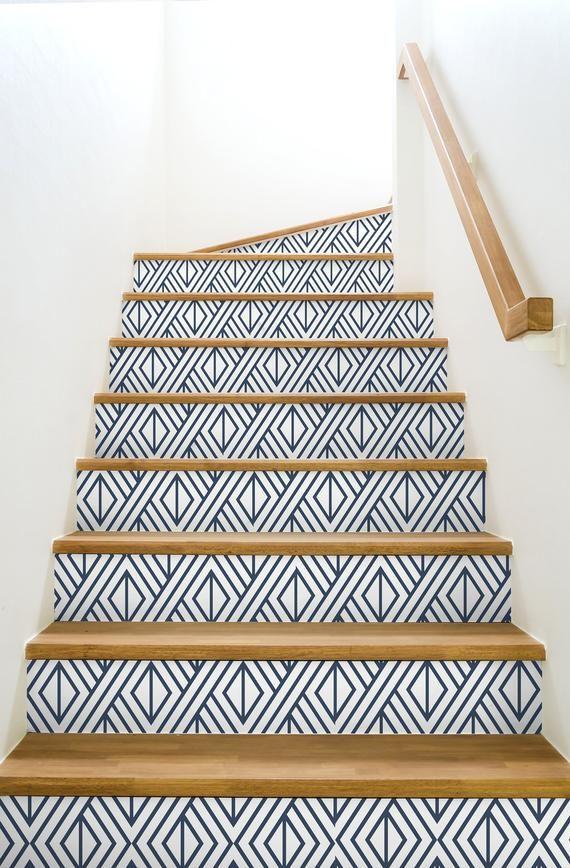 Wallpaper Peel And Stick Removable Wallpaper Self Adhesive Etsy In 2021 Geometric Wallpaper Peel And Stick Temporary Wallpaper Bedroom Wallpaper Stairs