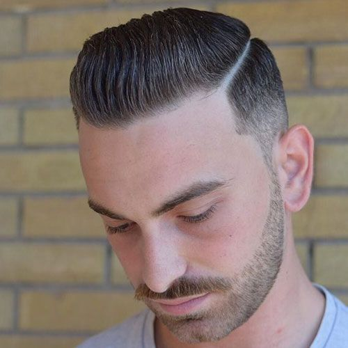 47 Slicked Back Hairstyles 2020 Styles Comb Over Fade Comb Over Fade Haircut Slicked Back Hair