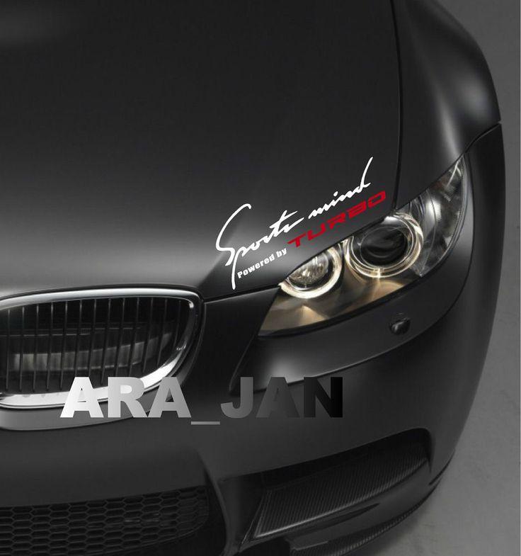 SPORTS MIND Powered by TURBO Vinyl Decal sport car racing sticker logo W/R #ARA_JAN