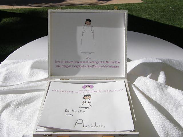 Los recuerdos hechos por los invitados en su caja
