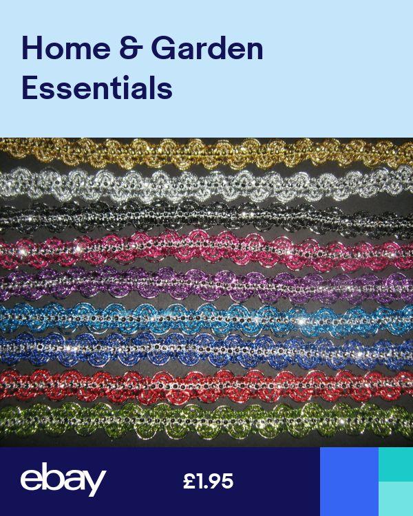 Metallic Diamante Braid Trim 2.5cm   Various Colours Sewing//Costume//Corsetry