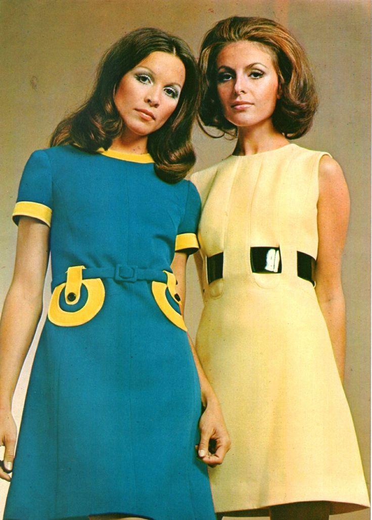 1960s mod fashion.