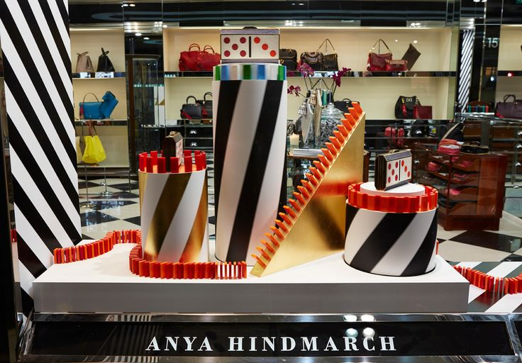 Anya Hindmarch Sloane Street: This year our Christmas windows are a celebration of the humble board game