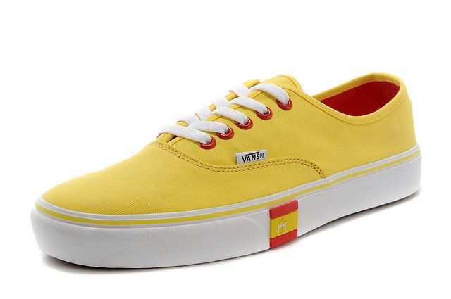 World Cup Era Vans Doren Spanish Flag Yellow Authentic