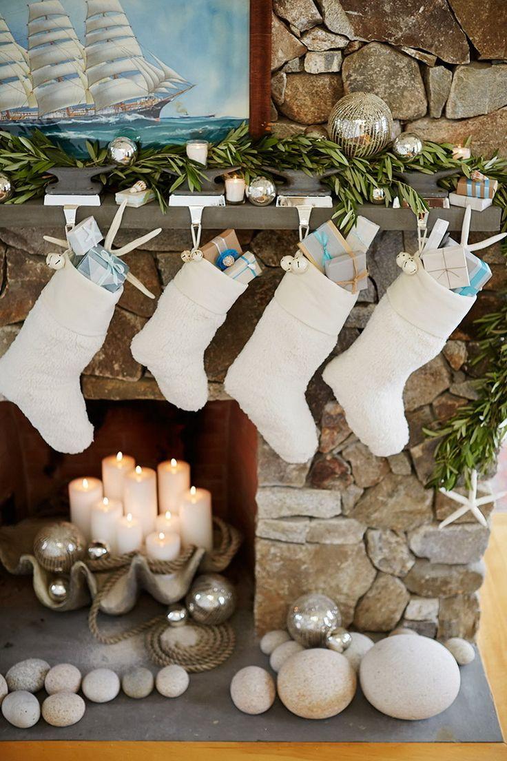 White christmas mantel decor - White Christmas Mantel Decor